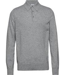 m. knitted polo shirt polos long-sleeved grå filippa k