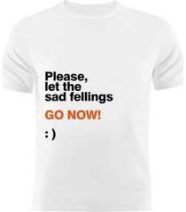 camiseta manga curta nerderia sad fellings branco - branco - masculino - dafiti