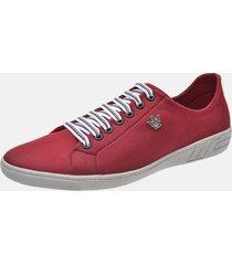 sapatenis conforto leve macio b2c shoes vermelho
