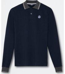 polo in jersey di cotone pesante