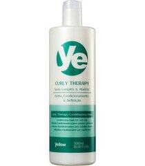 yellow condicionador curly therapy cabelos cacheados 500ml