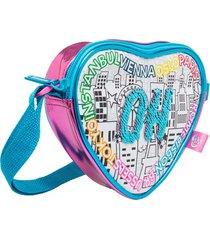 bolso de corazón color me mine 41462-multicolor