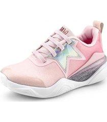 zapatillas estrellas line flow rosa bibi