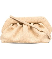 themoirè bios cork clutch bag - neutrals