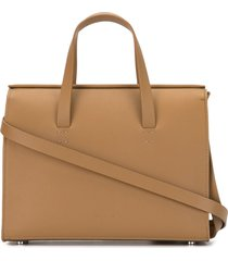 aesther ekme new mini barrel tote bag - brown