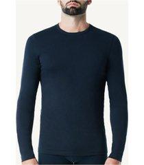 camiseta de manga comprida de algodã£o supimaâ® intimissimi algodã£o supima azul - azul - masculino - dafiti