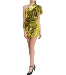 alexandre vauthier one-shoulder sequined mini dress