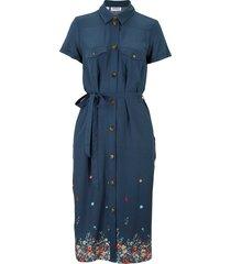 abito chemisier con stampa (blu) - john baner jeanswear