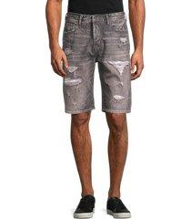 prps men's butler straight-leg shorts - grey - size 32