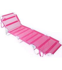 cadeira espreguiçadeira textiline aluminio ad rosa belfix - tricae