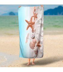 quiet-beach-and-starfish-landscape-3d-printed-rectangle-beach-throw-round-microf
