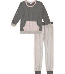 pigiama in tessuto morbido (grigio) - bpc bonprix collection
