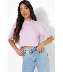 petite kort t-shirt, lilac