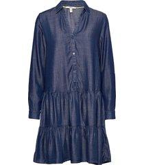 dresses denim dresses shirt dresses blå esprit casual