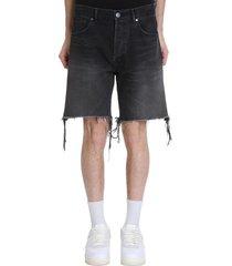 john elliott the kane 2 shor shorts in black denim