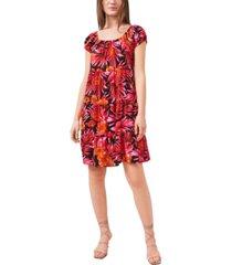 riley & rae printed tiered dress