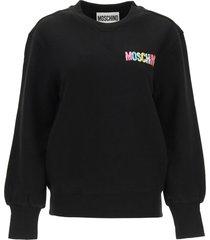 moschino sweatshirt with multicolor print