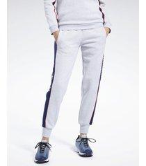pantalón gris reebok linear fleece