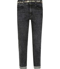 stella mccartney logo belt cropped jeans