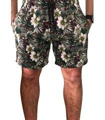 shorts estampado praia microfibra c/ bolsos laterais marca ks ref. 386