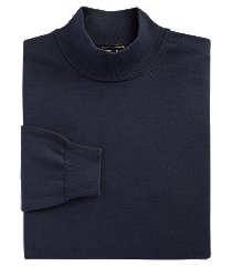 traveler collection pima cotton mock neck men's sweater