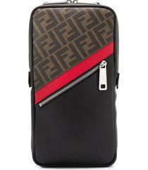 fendi ff motif one-shoulder backpack - black