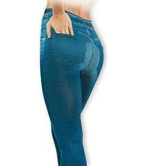 new women's genie slim jeggings》ultra plush lining》blue》2x (pants size 18-22)