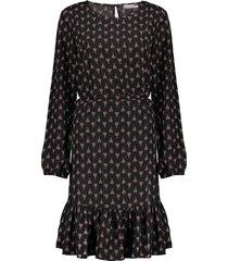 geisha 07644-20 999 jurk aop with lurex black/red combi