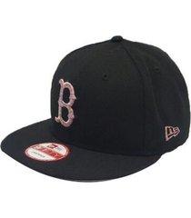 gorra hombre new era boston redsox logo craze snap-negro con envio gratis
