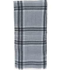 brunello cucinelli prince of wales wool and cashmere scarf