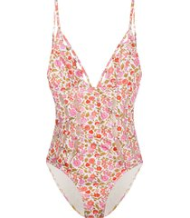 zimmermann coral blossom swimsuit - white
