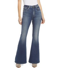 lee high waist flare jeans, size 28 in modern cyan at nordstrom