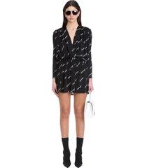 balenciaga dress in black viscose