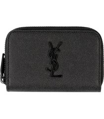 saint laurent micro leather wallet