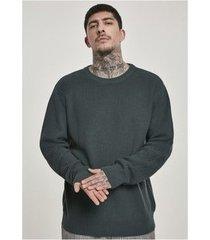 sweater urban classics zwarte stitch trui vest