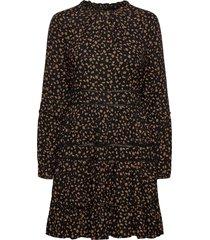 richelle ls dress knälång klänning svart superdry