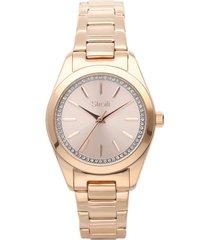 orologio solo tempo belleville con cinturino e cassa in acciaio rosato per donna