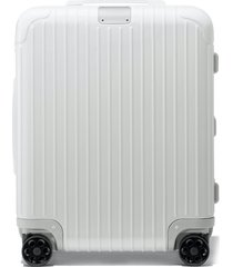rimowa essential cabin plus 22-inch wheeled carry-on - white