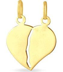 ciondolo in oro giallo cuore spezzato per unisex