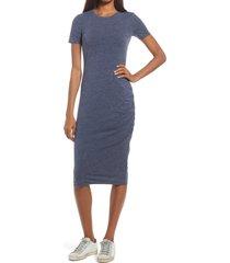 women's treasure & bond side ruched body-con dress, size xx-small - blue