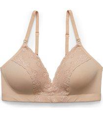 natori bliss perfection wireless maternity bra, women's, beige, size 38d natori