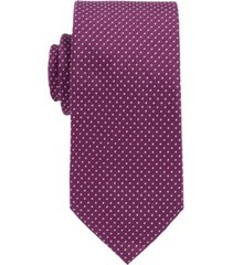 boss men's silk-jacquard tie