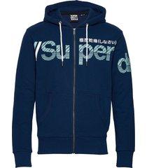 core split logo zip hood ub hoodie trui blauw superdry