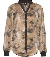 colby shirt blouse lange mouwen beige nü denmark