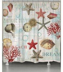 laural home dream beach shells shower curtain bedding