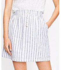 loft striped paperbag pocket skirt