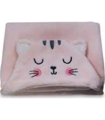 manta com capuz gatinha rosa - camesa - rosa - dafiti