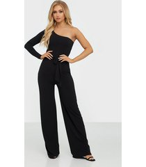 nly one one shoulder tie jumpsuit jumpsuits