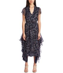1.state printed flutter dress