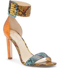 women's jessica simpson caytie ankle strap sandal, size 9.5 m - blue